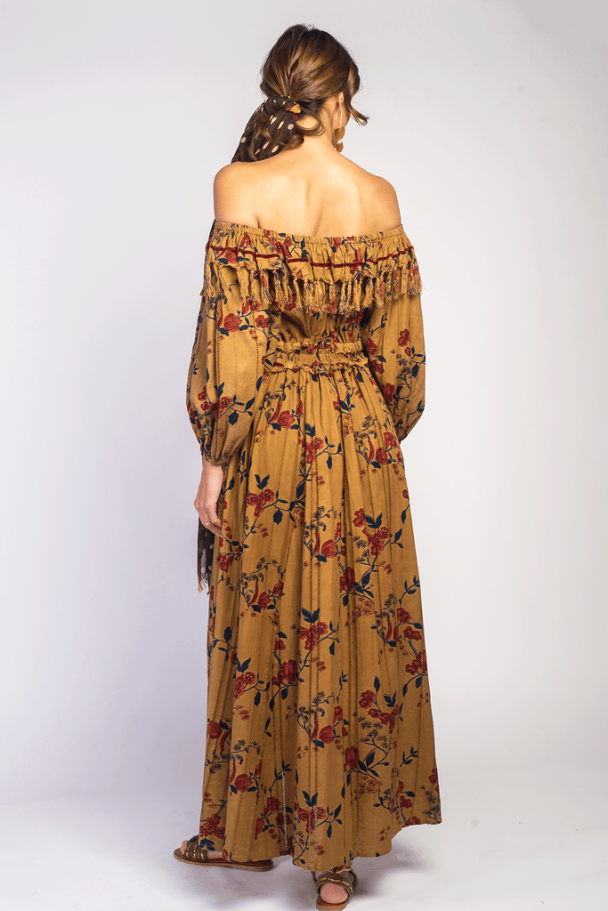 Yellow Fields Maxi Dress - Z&L Europe