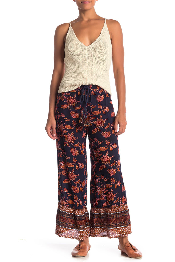 Dark Floral Pants - Z&L Europe