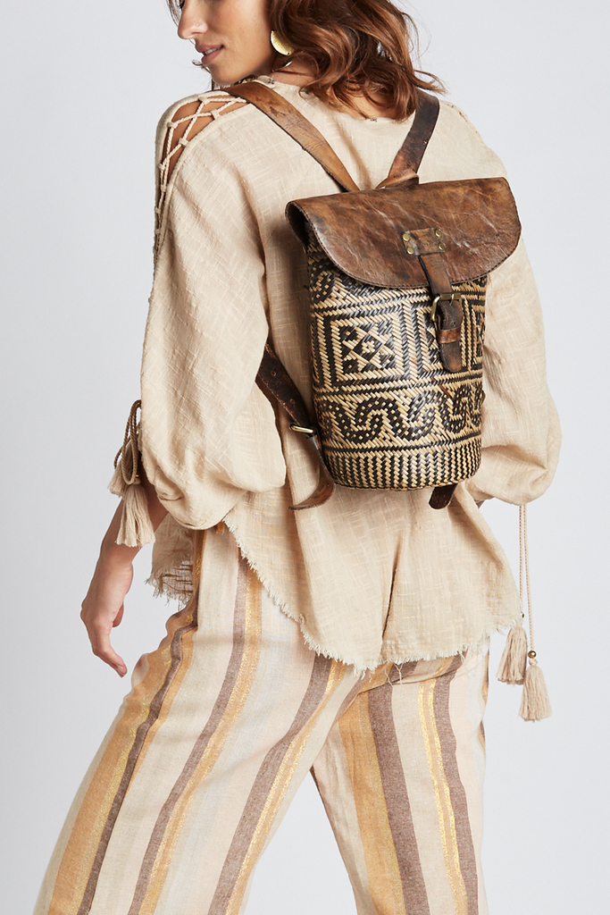 Tribal Print Backpack - Z&L Europe