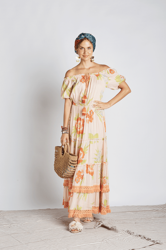 Orange Blossom Maxi Dress - Z&L Europe