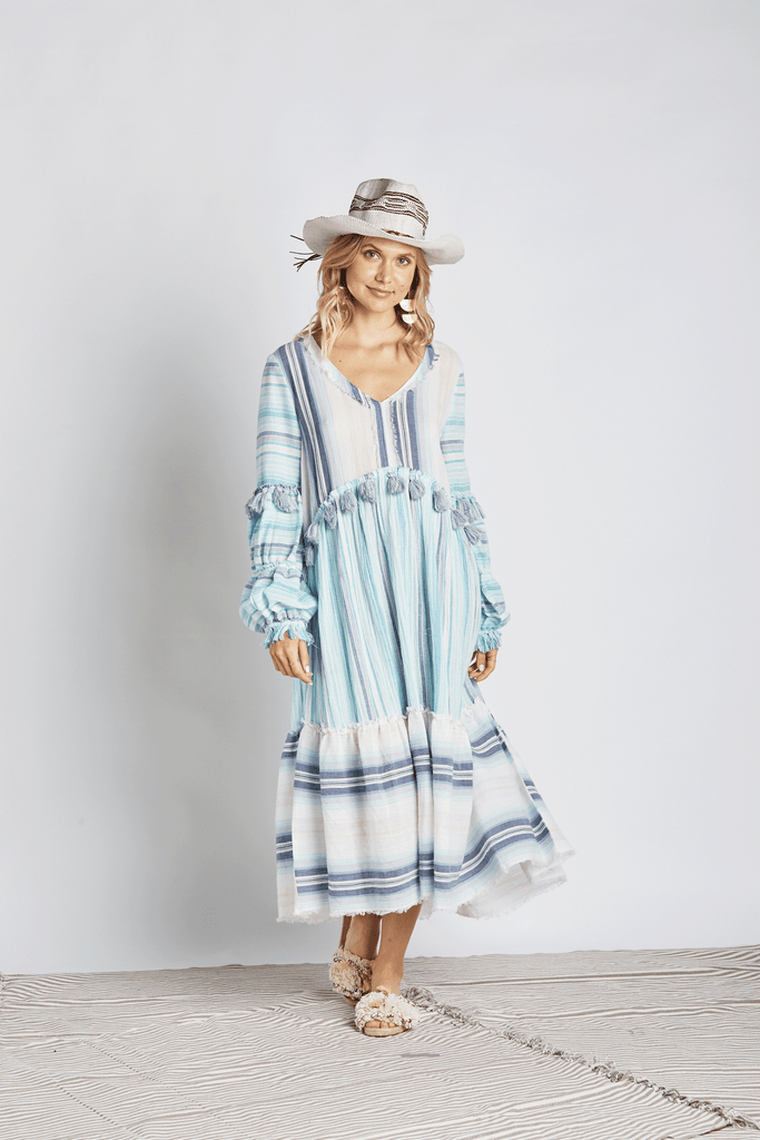 Nature Maxi Dress w/ Sleeves - Z&L Europe