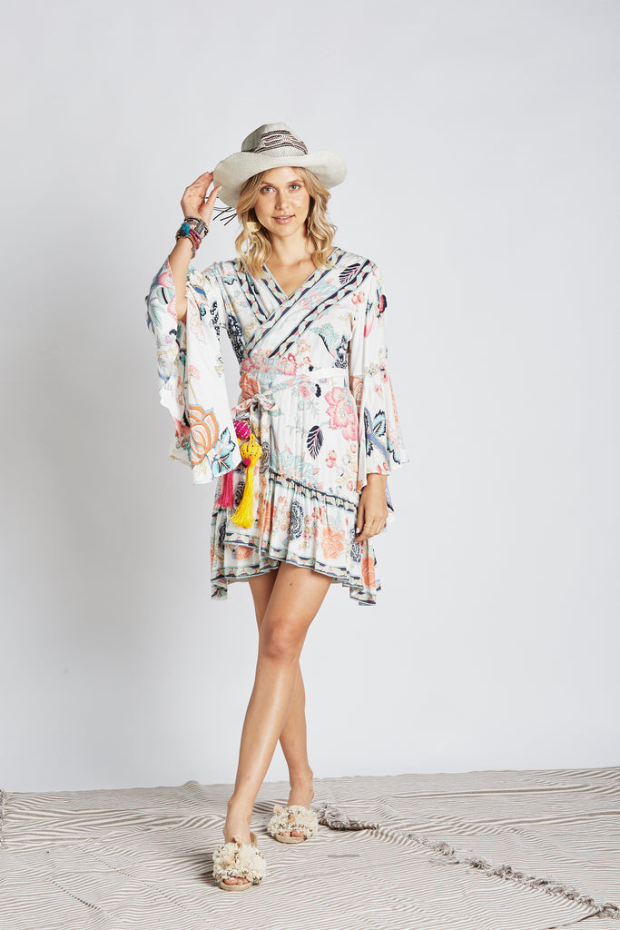 Oriental Wrap Dress - Z&L Europe