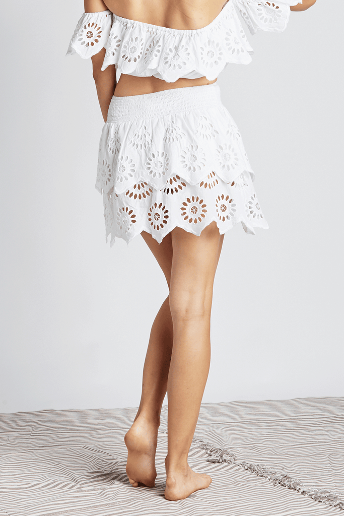 Eyelet Angel Mini Skirt - Z&L Europe