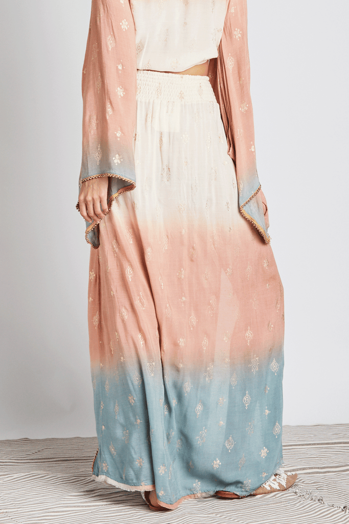 Ombre Ethnic Maxi Skirt - Z&L Europe