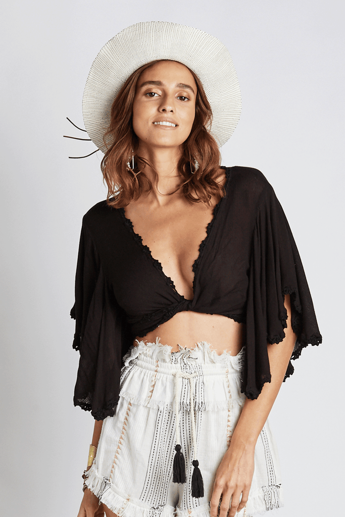 Basic Black Crochet Top - Z&L Europe