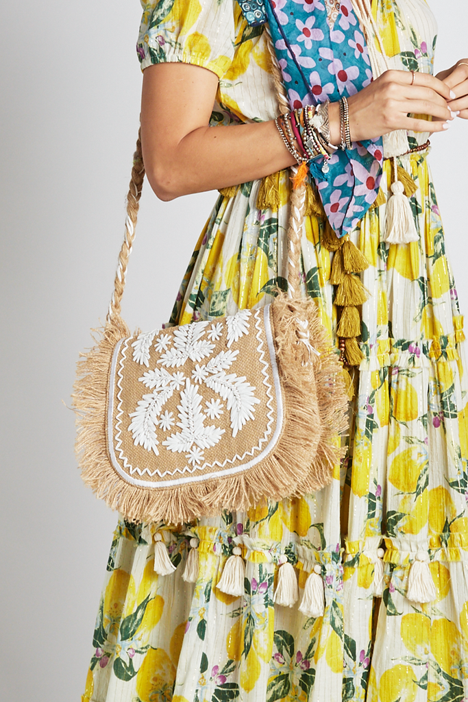 Embroidered Dream Shoulder Bag - Z&L Europe