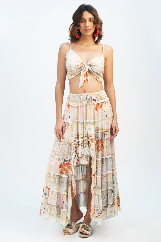 Patch Me Up Maxi Skirt - Z&L Europe