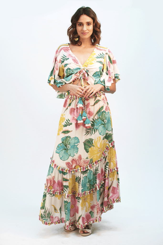 Tropical Waterlily Maxi Skirt - Z&L Europe