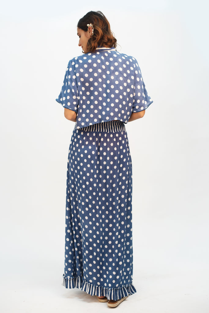 Blue Sea Maxi Skirt - Z&L Europe