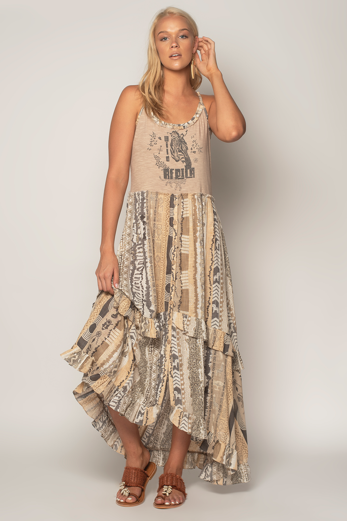 Jamming T-Shirt Maxi Dress