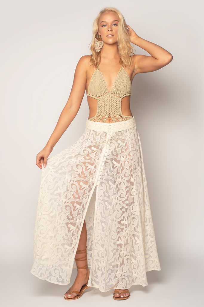 Ethnic Romance Maxi Skirt (Multiple Colors)