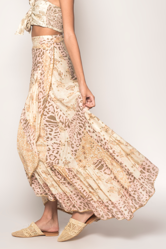 Into The Mystic Wrap Maxi Skirt - Z&L Europe