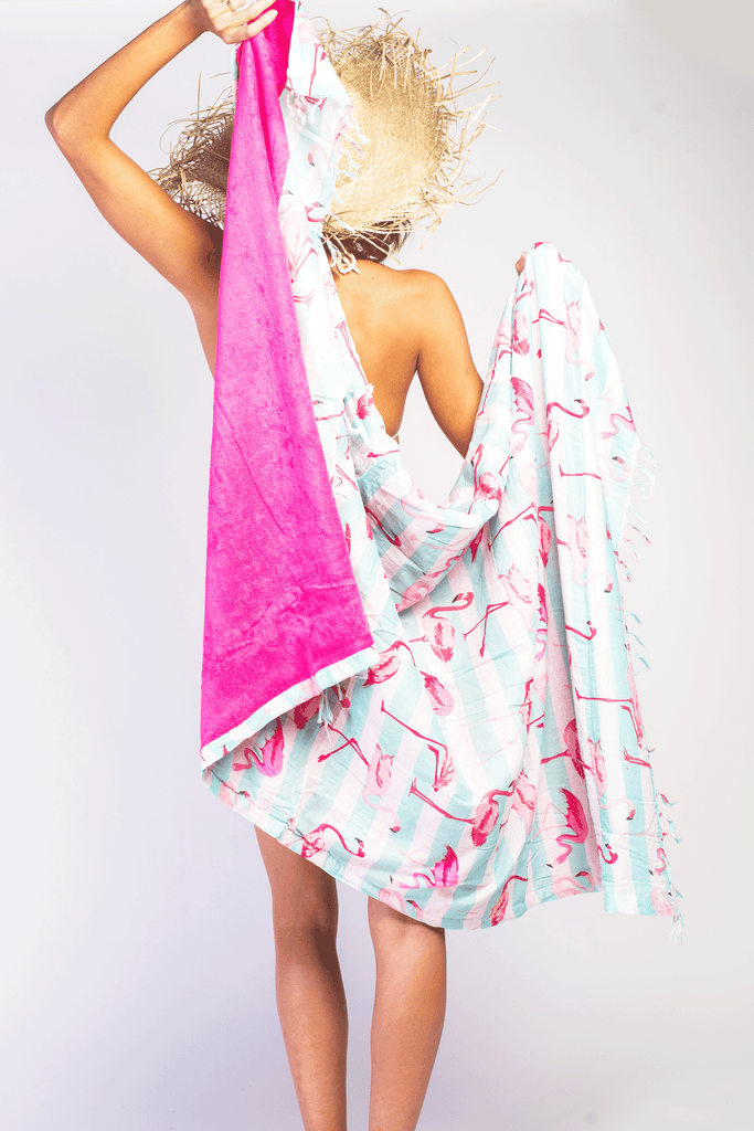 Flamingo Love Towel
