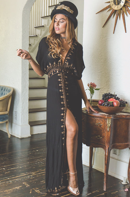 Gold Mandala Maxi Dress