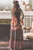 Ava Patchwork Maxi Dress