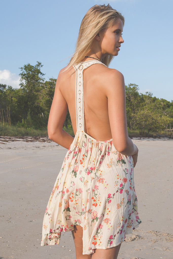 Peony Open Back Dress - Z&L Europe