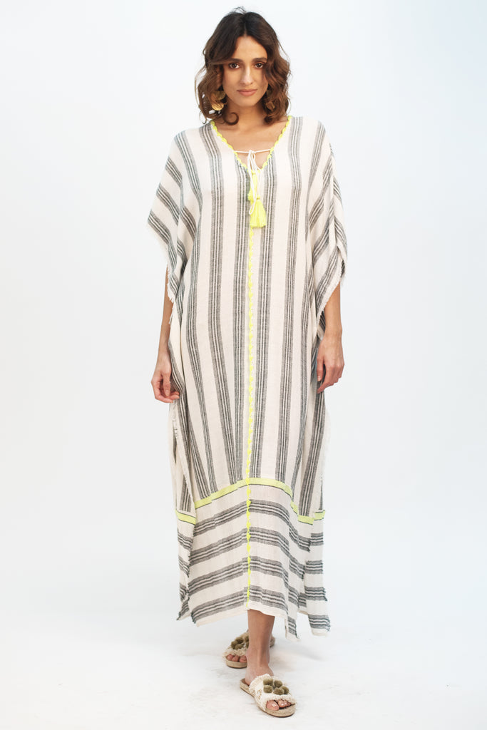 Striped Neon Kaftan - Z&L Europe