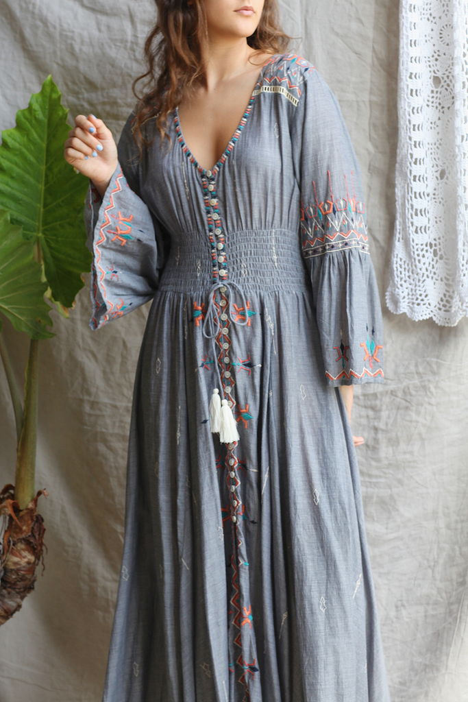 Indigo Tribal Maxi Dress - Z&L Europe