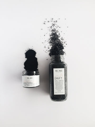Activated charcoal detox skincare products