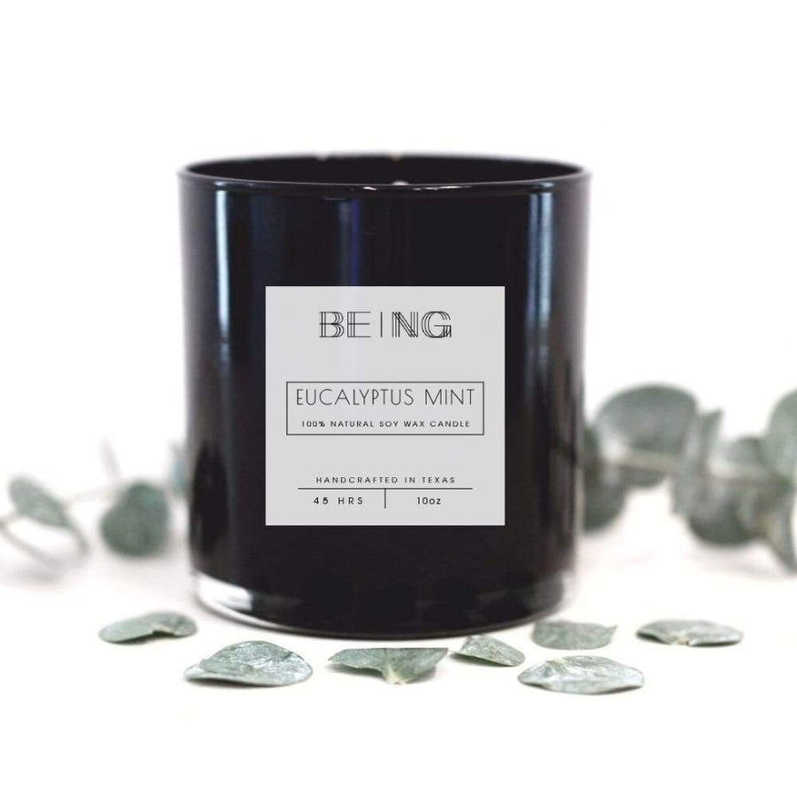 Eucalyptus Mint Soy Candle - LIVE BY BEING