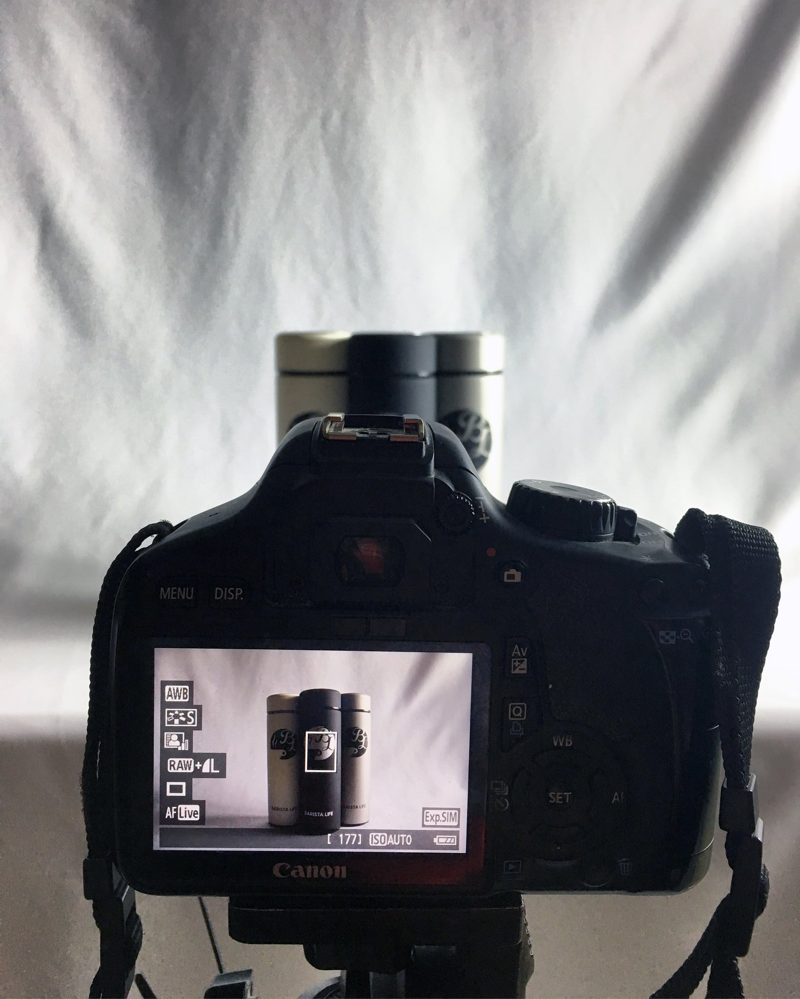 Barista Bottle Photography