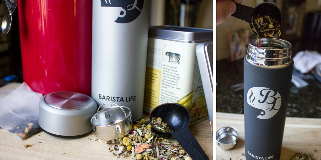Brew Tea with Barista Bottle