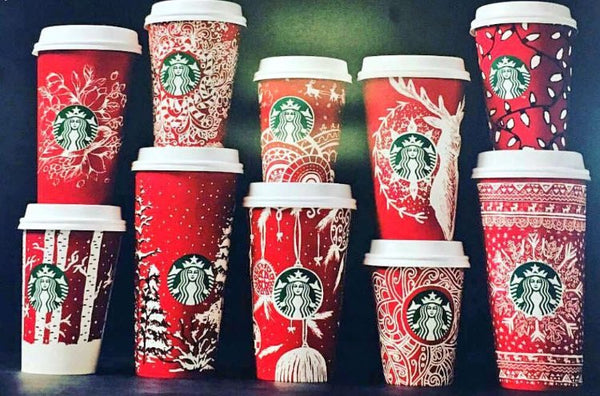 These are the 2016 Starbucks Holiday Cups