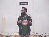 American Flag Barista Life Forest Green Tee