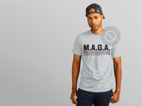 Make Americanos Great Again Barista Life Tee Grey