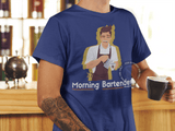 Barista Life Morning Bartender T-Shirt Blue