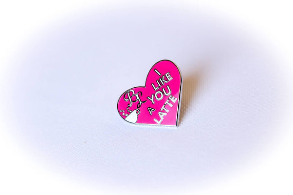 "Pin - ""I Like You A Latte"" Valentine's Day Pin"