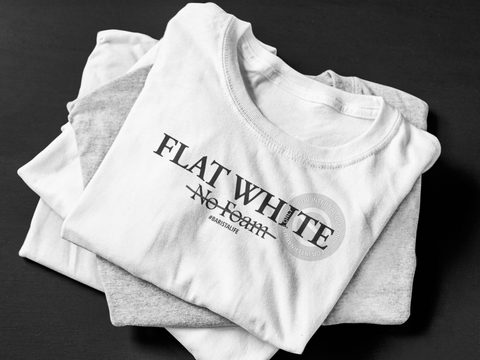Shirts - Flat White, No Foam Tee