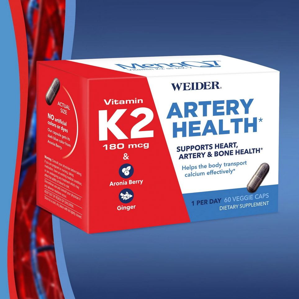 Комплекс для артерий Weider Artery Health with Vitamin K2, 60 капсул - Shopping TEMA