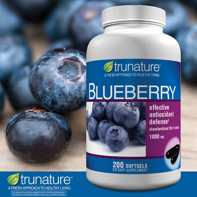 Экстракт голубики trunature blueberry 1000мг, 200 капсул - Shopping TEMA