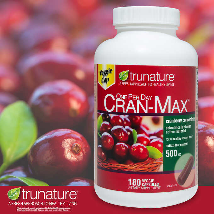 Комплекс из клюквы trunature CRAN-MAX 500мг, 180 капсул - Shopping TEMA
