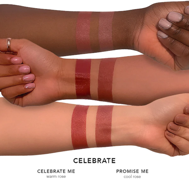 Celebrate - celebrate me: warm rose / promise me: cool rose