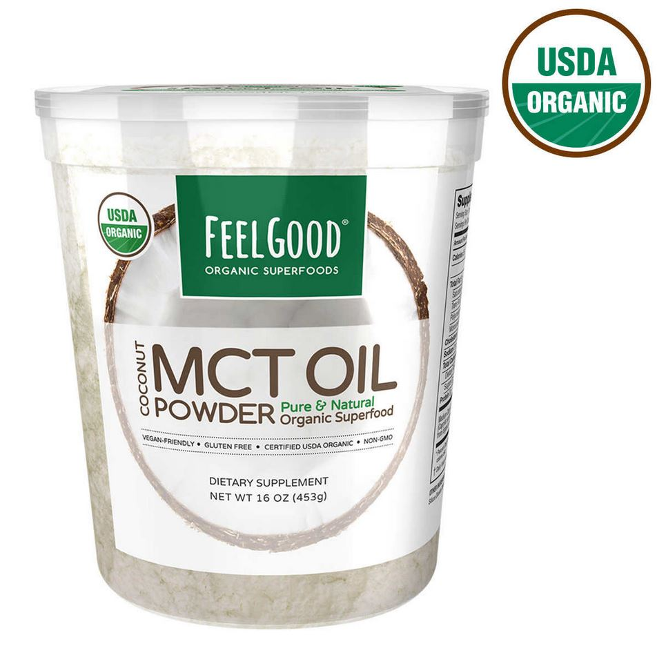 Масло МСТ Feel Good USDA Organic MCT Oil Powder