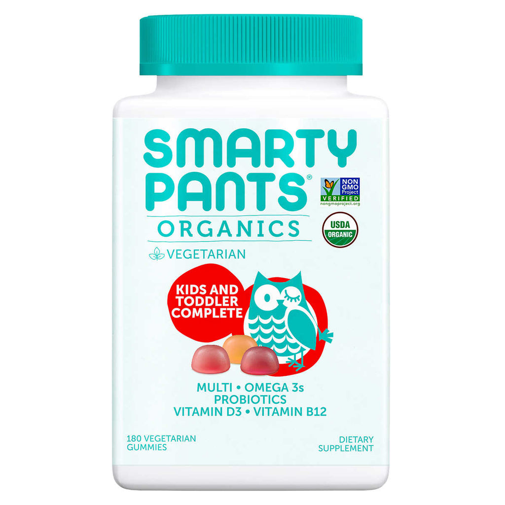 Мультивитамины SmartyPants USDA Organic Kids & Toddler