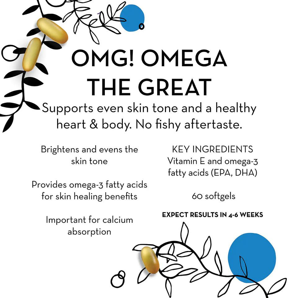 Рыбий жир Омега Hum Nutrition OMG! Omega The Great Fish Oil, 60 капсул - Shopping TEMA