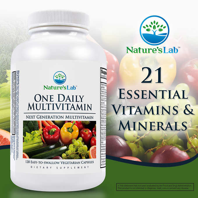 Мультивитамины One Daily Nature's Lab, 120 капсул - Shopping TEMA