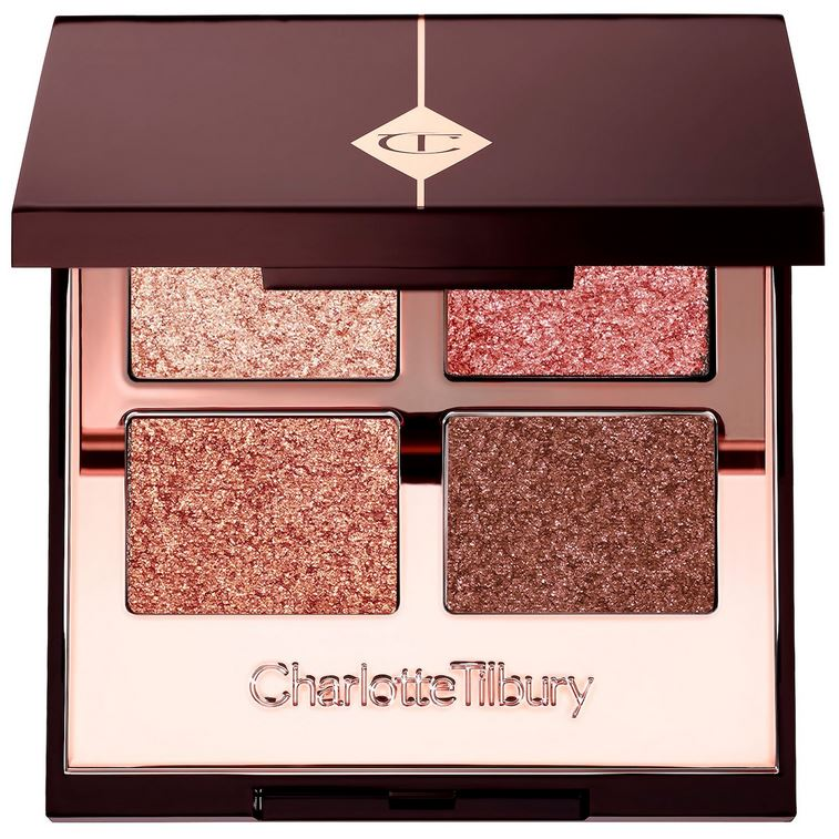 Pillow Talk Palette of Pops - shimmers in nude pink, champagne, rose gold and copper-bronze shades