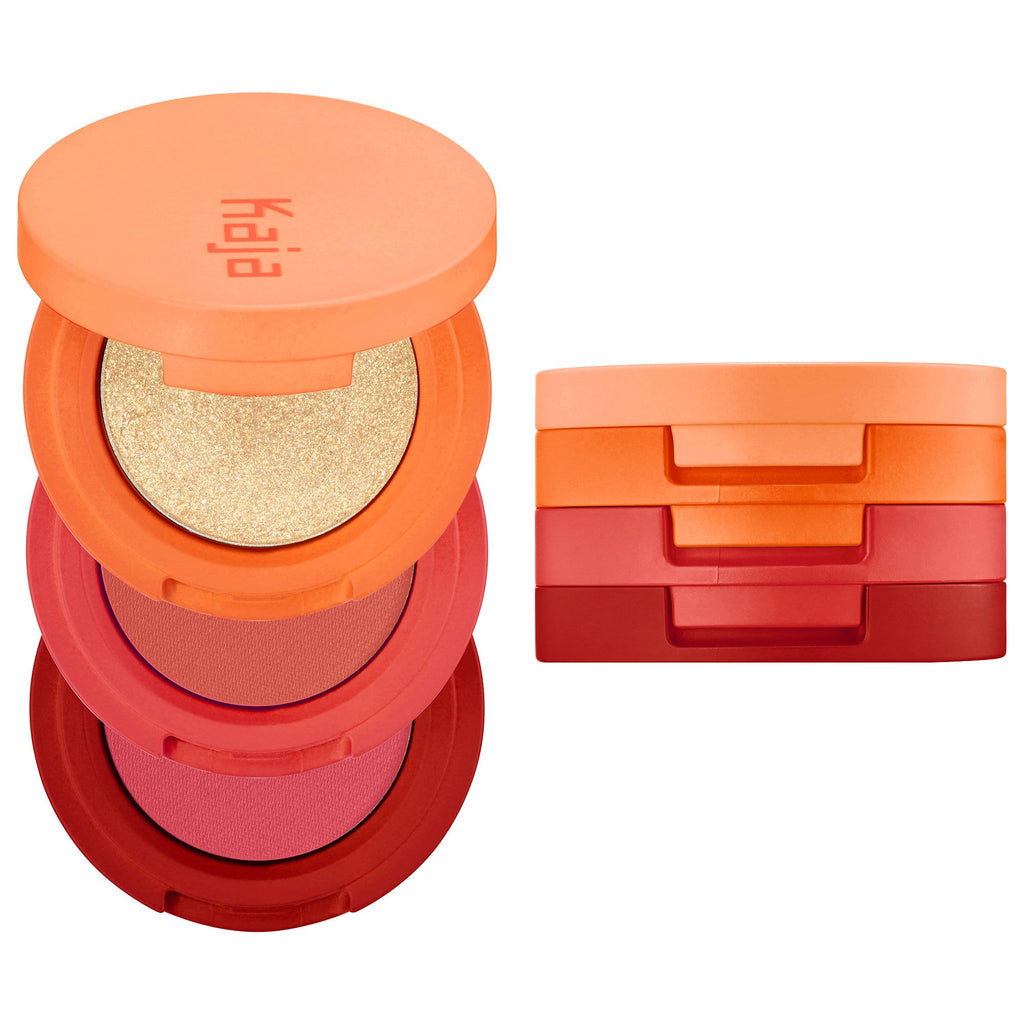 Тени Kaja Beauty Bento Bouncy Shimmer Eyeshadow Trio - Shopping TEMA