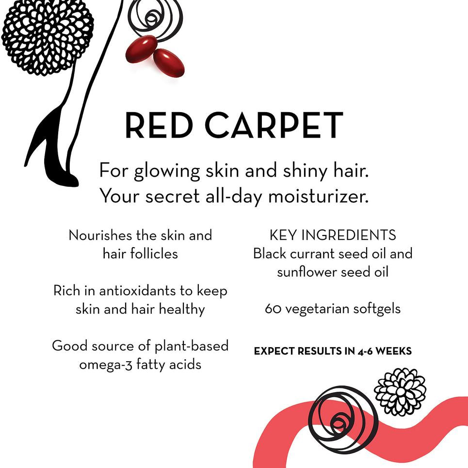 Витамины Hum Nutrition Red Carpet Skin, 60 капсул - Shopping TEMA