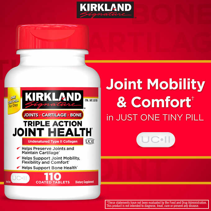 Комплекс для суставов Kirkland Signature Triple Action Joint Health, 110 таблеток - Shopping TEMA