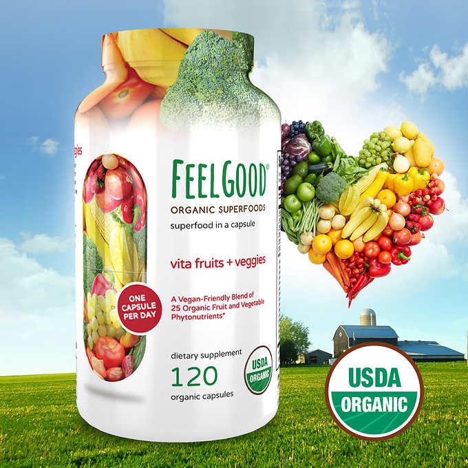 Мультивитамины Feel Good Vita Fruits & Veggies, 120 капсул - Shopping TEMA