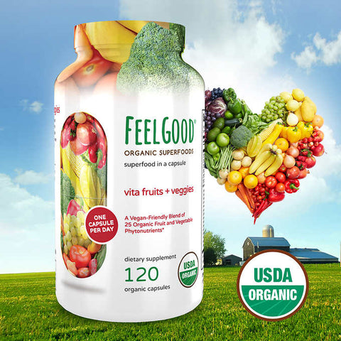 Мультивитамины Feel Good Vita Fruits & Veggies, 120 капсул