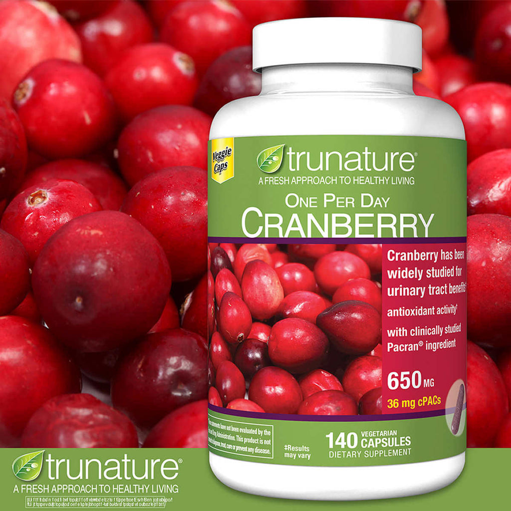 Комплекс из клюквы trunature cranberry 650мг, 140 капсул - Shopping TEMA