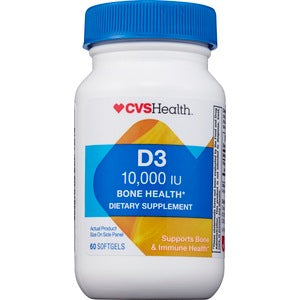 Витамин D3, CVS Health 10000IU, 60 капсул