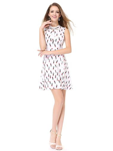 Cute Lipstick Pattern Casual Dress