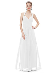 Double Plunging V-neck Sleeveless Evening Dress - Multiple Color Options